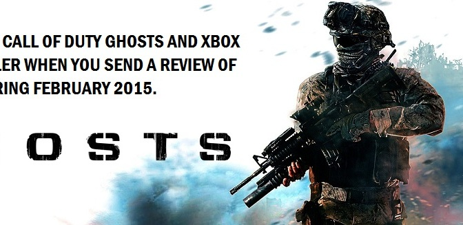 Win a copy of Call of Duty Ghosts for the X-box 360 and a Crystal Controller